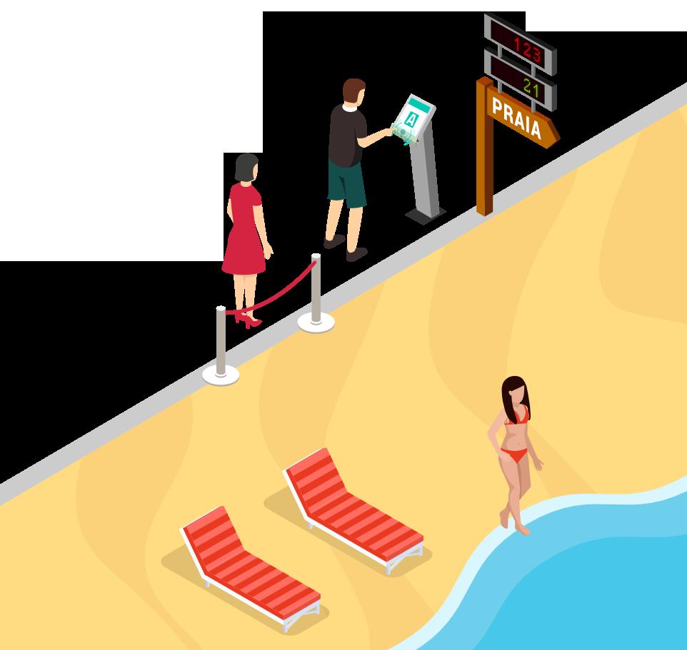 Praia Contacto Zero - Entrada