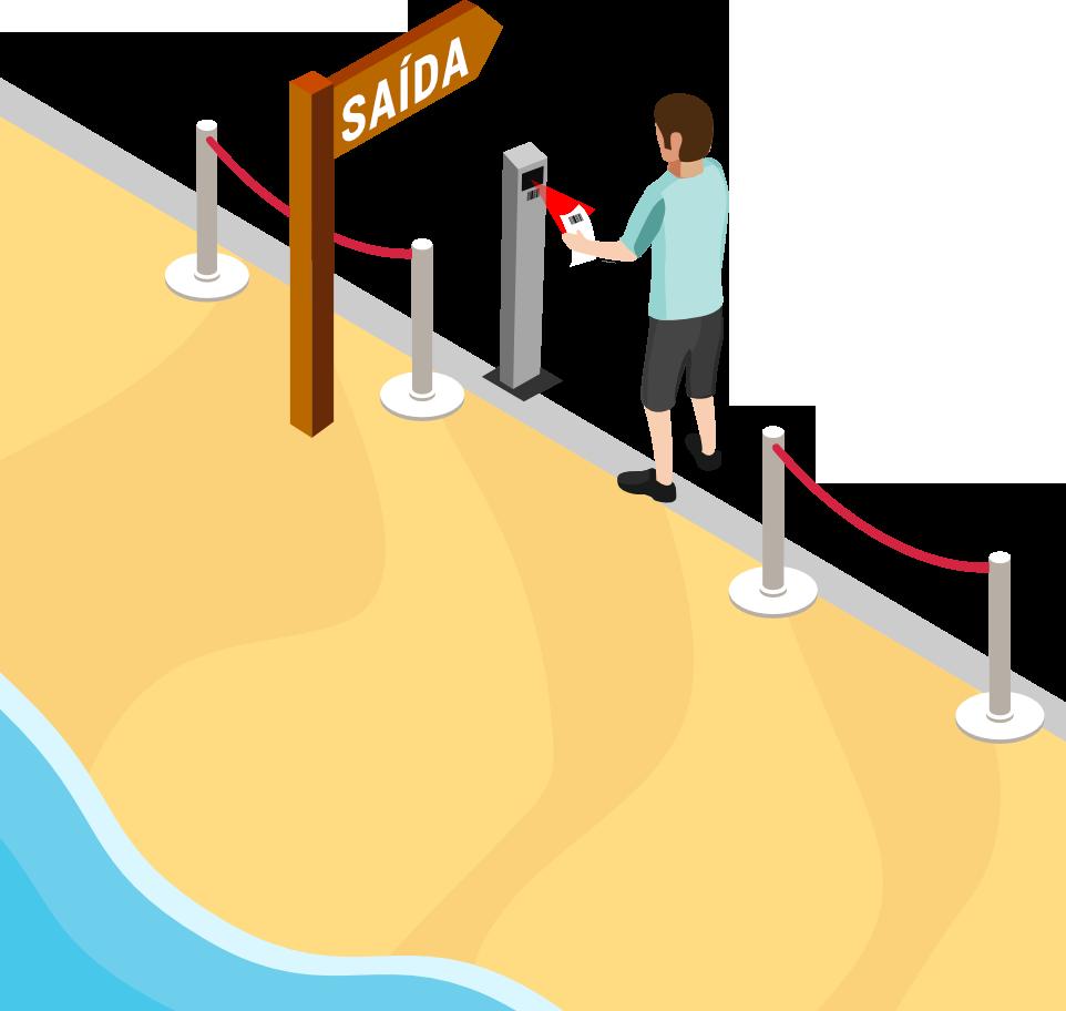 Praia Contacto Zero - Saída