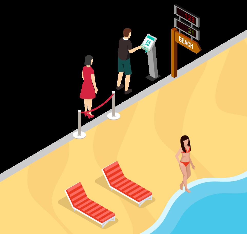 Zero Contact - Beach entrance