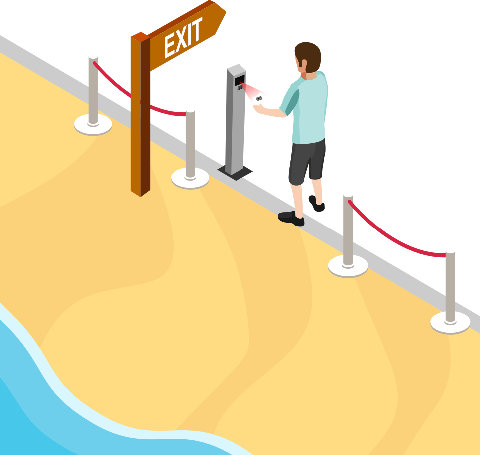 Zero Contact - Beach exit
