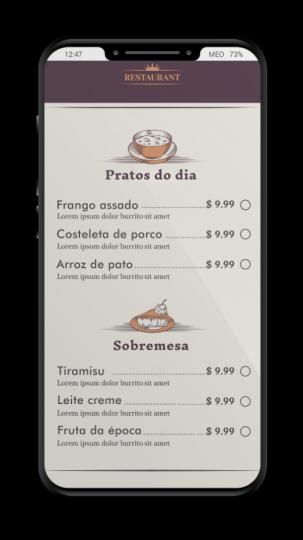ContactoZero - Menu QRCode passo 2